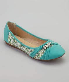 Another great find on #zulily! Gemini Turquoise Floral Sun Flat by Gemini #zulilyfinds