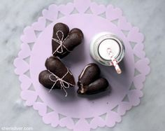 Heart Shaped Chocolate Whoopie Pies