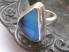 Freeform Australian Opal and sterling silver ring by riorita, $95.00