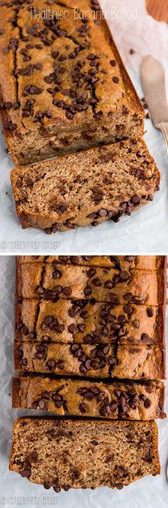 Healthier Banana Bread Recipe | crazyforcrust.com