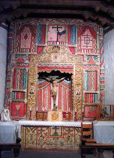 Altar at the church at Chimayo New Mexico