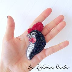 A personal favorite from my Etsy shop https://www.etsy.com/listing/488440675/rooster-brooch-beaded-hen-pin-chicken