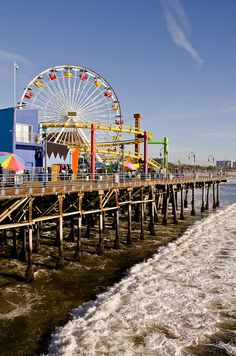 Santa Monica Pier- where my husband planned to propose to me. Too bad the weather didn't cooperate that day.