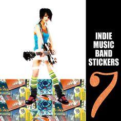 Indie Music Band Stickers, Black Keys, Band of Horses, Local Natives, Bon Iver, Cold War Kids, Mumford & Sons, Passion Pit, Rara Riot