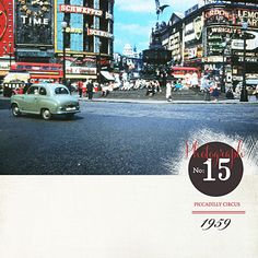 Piccadilly Circus London 1959, Scrapped with Life in Pictures No.02 photobook templates, Lynn Grieveson, Designer Digital digital scrapbooking supplies