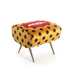 Make a statement with this Toiletpaper Pouf from Seletti wears Toiletpaper. A striking piece of furniture, it is made from polyester fabric with a sturdy wooden frame and features red lips with an exp Funky Furniture, Art Furniture, Velvet Furniture, Cheap Furniture, Furniture Plans, Contemporary Furniture, Painted Furniture, Wooden Armchair, Ottoman Bench