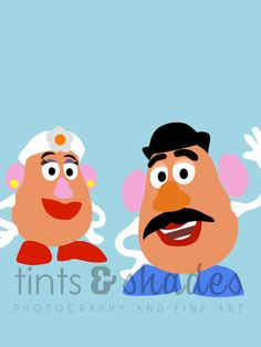 Mr. and Mrs. Potato Head 8x10 Minimalist by TintsShadesFineArt, $9.50