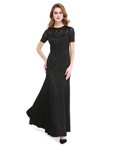 A-Line Jewel Neck Floor Length Lace Mother of the Bride Dress with Beading by LAN TING BRIDE® - USD $98.99 ! HOT Product! A hot product at an incredible low price is now on sale! Come check it out along with other items like this. Get great discounts, earn Rewards and much more each time you shop with us!