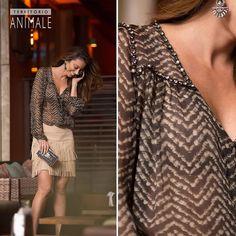 Street Style: glamour boho para a noite #territorioanimale #animalebrasil