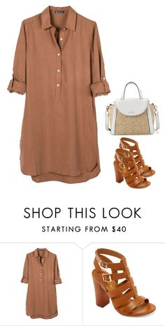 """Stylish #7"" by ella178 ❤ liked on Polyvore featuring United by Blue, Bamboo, Kate Spade, chic, fab, girly, gladiatorshoes and dressblouse"