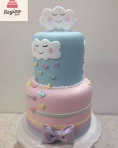 Bom dia ☔️💕 bolo chuva de amor ☔️💕 disponível pronta entrega #amobolos #bolobiscuit #bolochuvadeamor #loveraincake