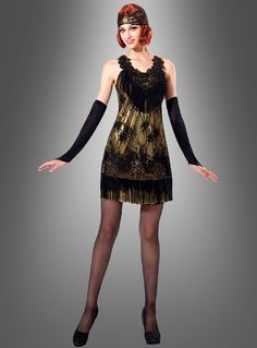 flapper dress gold geburtstag pinterest 20er jahre kleider 20er jahre und 20er. Black Bedroom Furniture Sets. Home Design Ideas