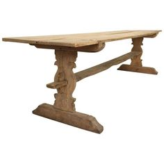 19th Century Swedish Long Trestle Refectory Table | From a unique collection of antique and modern farm tables at https://www.1stdibs.com/furniture/tables/farm-tables/