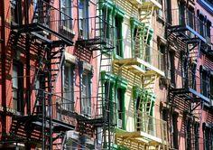 Foto new york colorful buildings in tribeca - Imágenes y fotos de ...