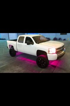 jacked up chevy trucks pictures Jacked Up Chevy, Jacked Up Trucks, New Trucks, Cool Trucks, Pickup Trucks, Pink Lifted Trucks, Pink Chevy Trucks, Future Trucks, Chevy 4x4