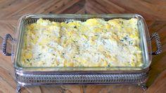 Creamy Scrambled Egg Casserole.  Overnight, make-ahead dish perfect for brunch.
