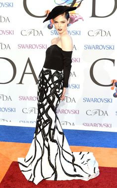 Coco Rocha from 2014 CFDA Awards: Red Carpet Arrivals