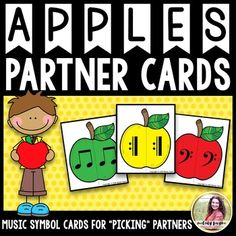 Apple Partner Picker cards will help your students choose partners for games and…