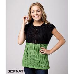 Fresh Mesh Top | Bernat Maker Home Dec| Summer | Yarnspirations | Free Pattern | New Pattern