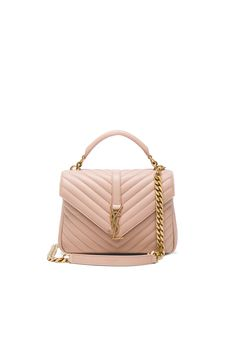 Image 1 of Saint Laurent Medium Monogramme College Bag in Nude Rose