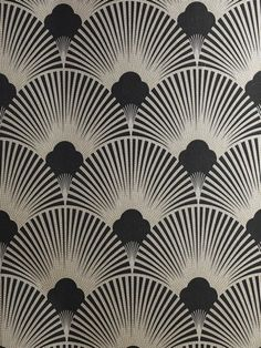 art deco wallpaper | WS128 Wallpaper - Art Deco - Geometric Fan Motif - Surrey