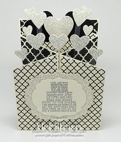 CCREW0114CF Glittery Wedding Concertina Card by stampinandstuff - Cards and Paper Crafts at Splitcoaststampers