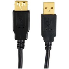 AXIS 12-0082 A-Male to A-Female USB 2.0 Cable, 6ft