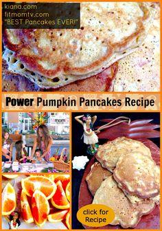 Fit Mom Kiana POWER PUMPKIN PANCAKES Recipe! Best Pancakes EVER!