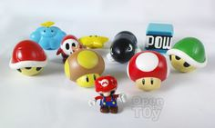 Wii Mario Kart Weapon and Mario Capsule toy review http://www.openthetoy.com/2009/07/mario-kart-wii-gashapon-magnet.html