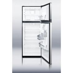 Summit Appliance 10 cu. ft. Top Freezer Refrigerator in Stainless Steel-FF1074SS at The Home Depot