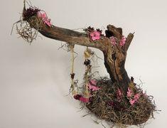 Charming fairy swing. Fairy garden miniature garden by TinkerWhims