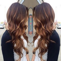 PERFECT hair color. Brunette with natural looking highlights.