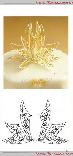 royal icing winged crown template | royal icing, filigree templates | Cake Decorating Tutorials (How To's) | royal icing piping figures & patterns | royal icing ideas & inspiration |