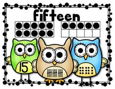 """(sample page) """"Owl"""" About Numbers {Math Posters 11-20} Kindergarten Common Core. $"""