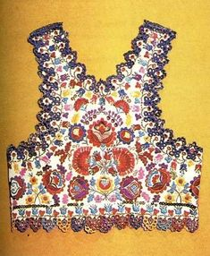 embroidered vest from Sióagárd. This will make a very sexy piece, if coordinated correctly in summers. a) wear over fitting white tee b) just this and a black leather jacket at top with boyfriend denims; Popular Art, Arte Popular, Hungarian Women, Hungarian Embroidery, World Crafts, Folk Costume, Costumes, Boho Gypsy, Bohemian Style