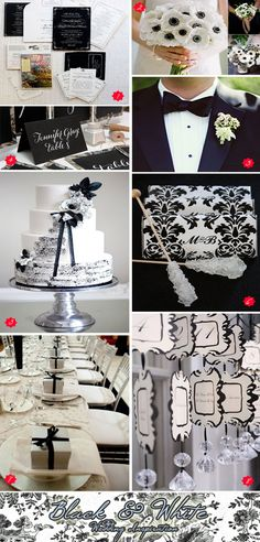 Black and white wedding inspiration with a touch of silver!   #blackandwhiteweddings