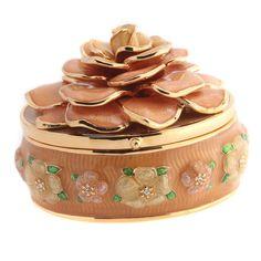 qvc Joan Rivers Goldtone Ltd. Edition Keepsake Box w/ Pin 762S #JoanRivers #Fashion