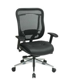 SPACE - #Executive High Back #Chair w/ Leather Seat #818A-41P9C1AB - #OfficeFurniture