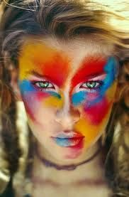 Colorful facepaint