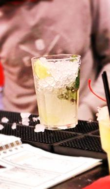 Mai Tai Cocktail ~ 1 1/2oz Dark Rum, 3/4oz Cointreau, 3/4oz Fresh Lime Juice, 1/4oz Orgeat Syrup, 1/4oz Overproof Rum Float