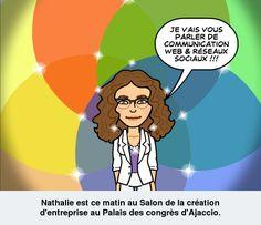 Nathalie au 1er Salon de la Création d'Entreprise.