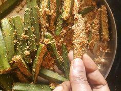 Kurkuri rava bhindi fry crispy okra fry is a stir fried okra recipe where the coated semolina adds crunch and crisp to dish. Malai Kofta Curry, Lauki Kofta, Indian Food Recipes, Asian Recipes, Vegetarian Recipes, Stir Fry Okra, Bhindi Fry, Okra Fries, Okra Recipes