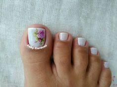 Resultado de imagen para unhas dos pés decoradas com flores passo a passo Toe Nail Art, Toe Nails, Cute Pedicures, Toe Polish, Face Painting Designs, Toe Nail Designs, Mani Pedi, Beauty Nails, Pretty Nails