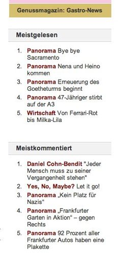 """My new article """"Let it go"""" made it to Nr. 2 in the top 5 articles in Journal Frankfurt this week. Thank you dear friends and readers! You can read the article here: http://www.journal-frankfurt.de/journal_news/Yes-No-Maybe-56/Galia-Breners-column-Let-it-go-18626.html"""