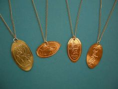 Pressed penny necklace