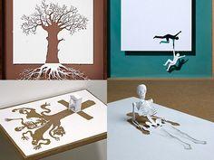 20 incroyables sculptures découpées dans une simple feuille de papier