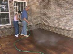 DIY How to Acid Stain a Concrete Patio Acid stain Concrete