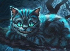 Cheshire is always such a delight to watch and draw, I think the artists/animators/voicecast of Tim Burtons Alice in Wonderland did a truly incredible job with him This piece was specially for (fac...