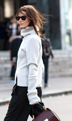 turtleneck chunky sweater