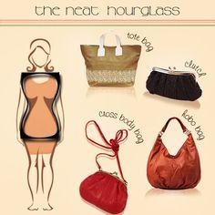Handbags for neat hourglass body